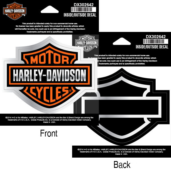 Decal, Inside/Outside, Bar & Shield, SM