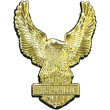 Pin, Upwing Eagle, Antiqued Gold Finish