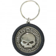 Keychain, Hubcap PVC & Antiqued Nickel