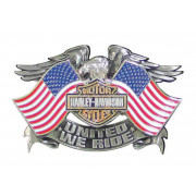 Pin, United We Ride, A/Q Nickel Finish