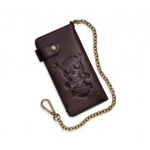 WALLET-BL,SKULL&WRENCHES,BIKER
