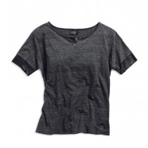 TOP-BL,FAUX LTHR ACCENT,GREY