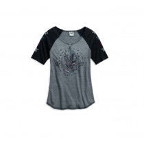 TEE-RAGLAN,EAGLE,GREY