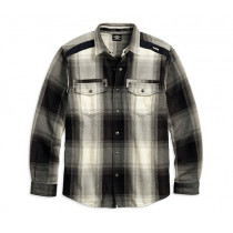 SHIRT-LS HEAVY PLAID FLANL,TAL