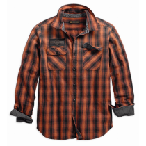 SHIRT-L/S,OAK LEAF,PLAID