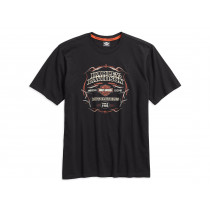 TEE-#1 GENUINE,BLK