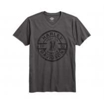 TEE-VNECK,HELL ON WHEELS,GRY