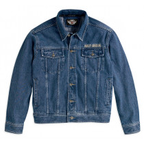 Bar & Shield Logo Denim Jacket