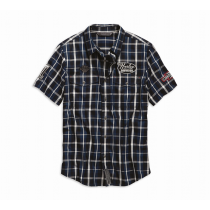 SHIRT-MULTI PATCH,S/S,WVN,PLD