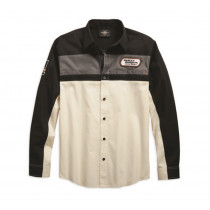 SHIRT-HD RACING,L/S,WVN,WHT