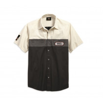 SHIRT-HD RACING,S/S,WVN,BLK