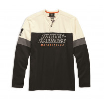 HENLEY-HD RACING,L/S,KNT,BLK