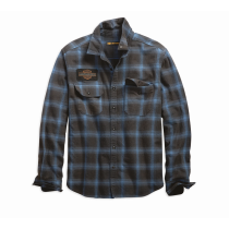 SHIRT-OAK LEAF,L/S,WVN,PLD