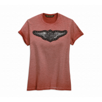TEE-STUDDED WING,S/S,KNT,RED