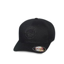 CAP-SKULL,STRETCH,BLK