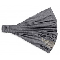 HEADWRAP-GMHR,FLOCKED WING,GRY