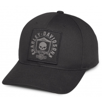 CAP-SKULL,SHIELD,BLK