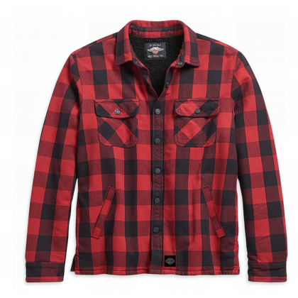 SHIRT JACKET-WOVEN,RED PLAID,S