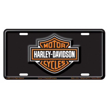 Orange/White Bar & Shield Auto Tag