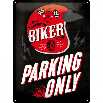 "Nostalgic Tin Sign 30x40 ""Parking Only"""