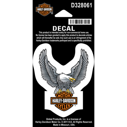 Decal, Upwing Eagle Silver XS