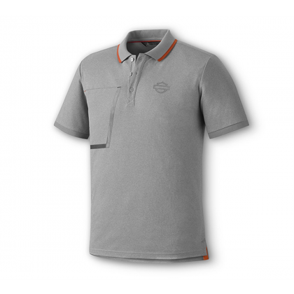 POLO-KNIT,HEATHER GREY