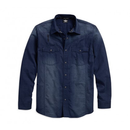SHIRT-WASHED TEXTURED, LS WOVE