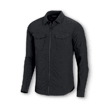 SHIRTJACKET-WOVEN,BLACK