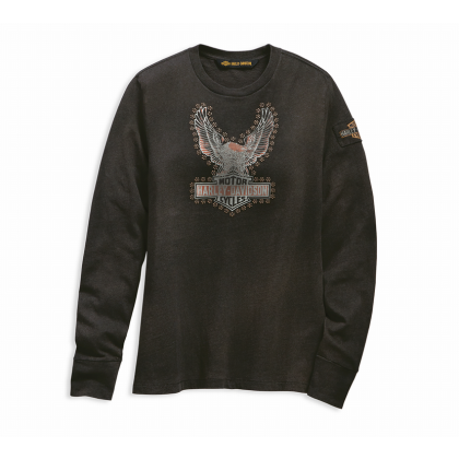 TEE-STUDDED DISTRESSED EAGLE,L