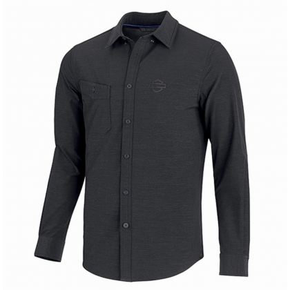 SHIRT-DOUBLE WEAVE,STRETCH,L/S
