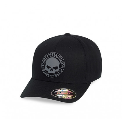 CAP-RUBBER SKULL,STRETCH,BLK