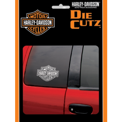 H-D White Bar&Shield Die Cutz Decal