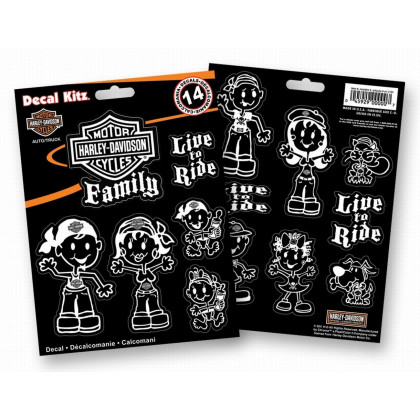 H-D Family decal set