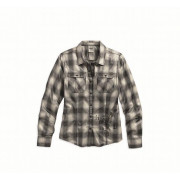 SHIRT-HERRINGBONE,PLAID