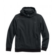 PULLOVER-FAUX LEATHER,HOODIE,B