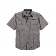 SHIRT-TEXTURED LINEN,ASPHLT