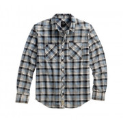 SHIRT-COTTON TWILL,PLD,B/L